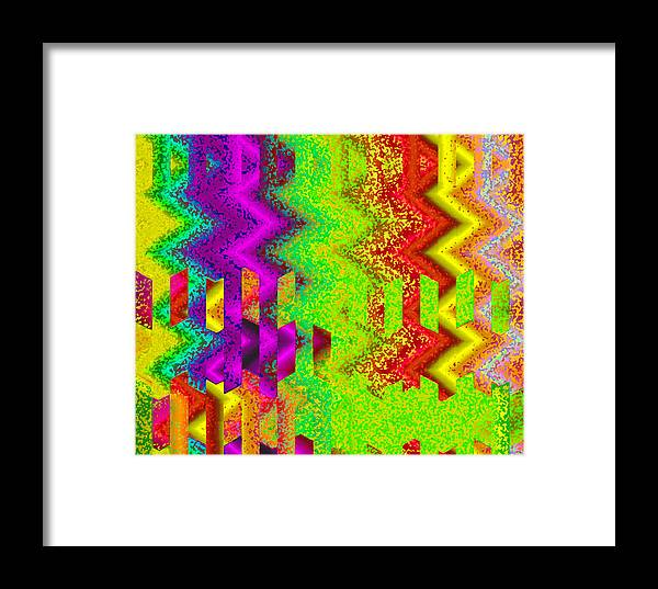 Abstract Framed Print featuring the digital art Heaven by Ruth Palmer