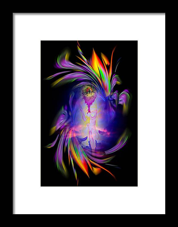 Heavenly Framed Print featuring the painting Heavenly Apparition by Walter Zettl