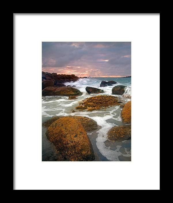 Sunrise Framed Print featuring the photograph Heavenly Dawning by Mike Dawson