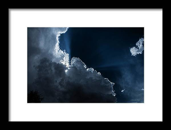Sun Framed Print featuring the photograph Heavenly Light by Karen Slagle