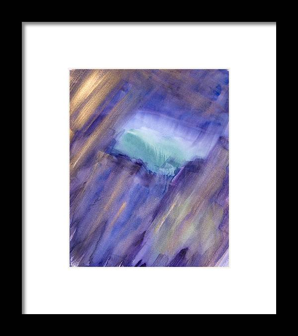 Abstract Sky Framed Print featuring the painting Heavenly Portal by Yolanda Lange
