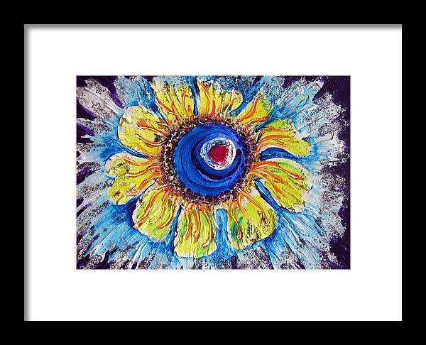 Abstract Framed Print featuring the painting Heavenly Stars In A Ring by Sarah Hornsby
