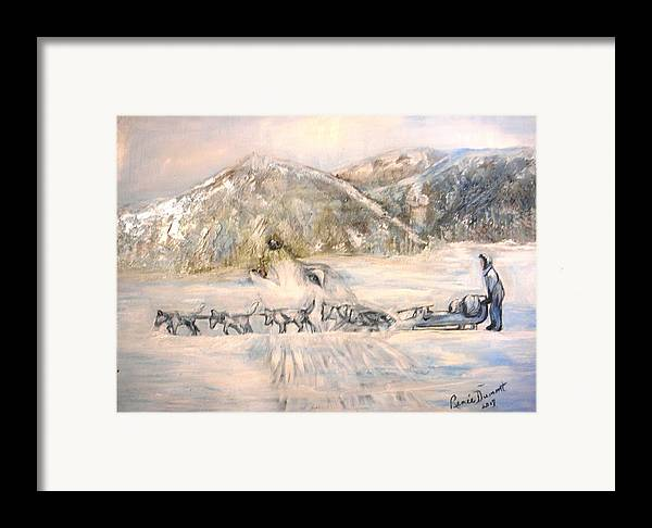 Animal Art Framed Print featuring the painting Heaven's Call by Renee Dumont Museum Quality Oil Paintings Dumont