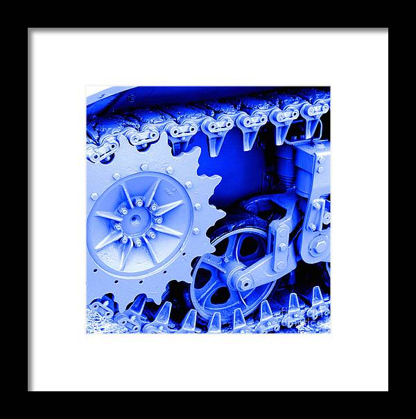 Tank Framed Print featuring the photograph Heavy Metal In Blue by Valerie Fuqua