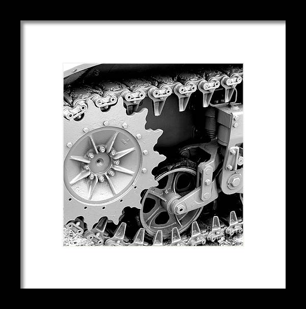Tank Framed Print featuring the photograph Heavy Metal In Gray by Valerie Fuqua