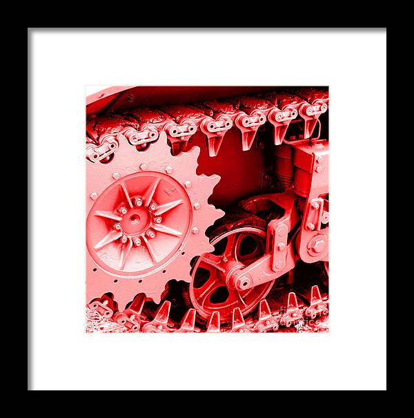 Wwii Framed Print featuring the photograph Heavy Metal In Red by Valerie Fuqua