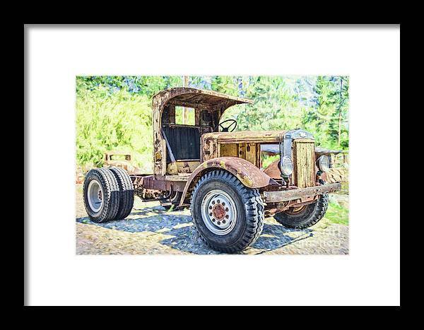 Truck Framed Print featuring the photograph Heavy Metal by Jean OKeeffe Macro Abundance Art