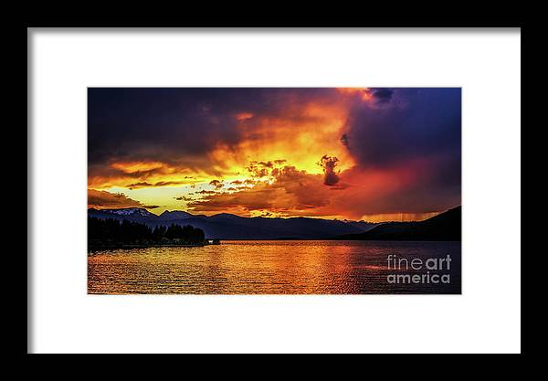 Hebgen Lake Sunset Framed Print featuring the photograph Hebgen Lake Sunset by Jemmy Archer