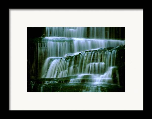 Waterfall Framed Print featuring the photograph Hector Falls -detail by Roger Soule