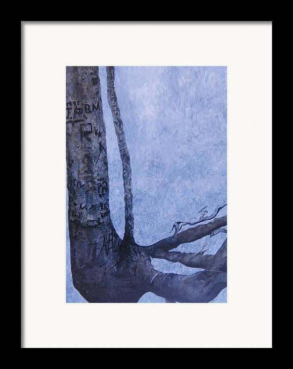 Tree Trunk Framed Print featuring the painting Hedden Park II by Leah Tomaino