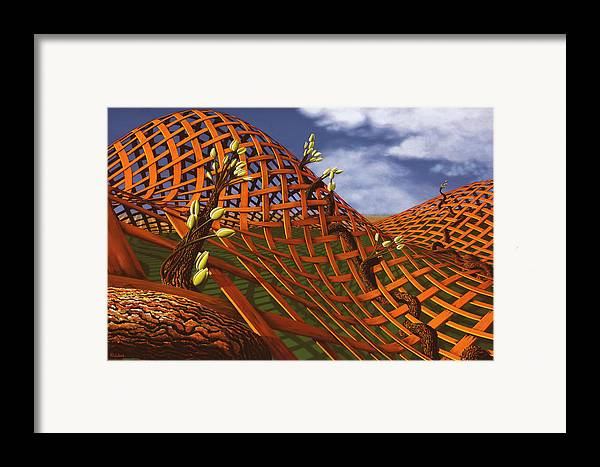 Architecture Framed Print featuring the painting Hedera Ferrugo by Patricia Van Lubeck