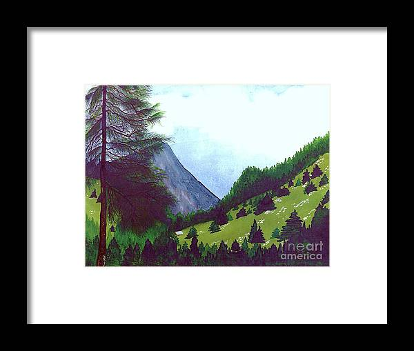Original Painting Framed Print featuring the painting Heidi's Place by Patricia Griffin Brett