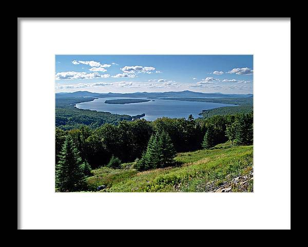 Height Of The Land Overlooking Mooselookmeguntic Lake Framed Print featuring the photograph Height Of The Land Overlooking Mooselookmeguntic Lake by Joy Nichols