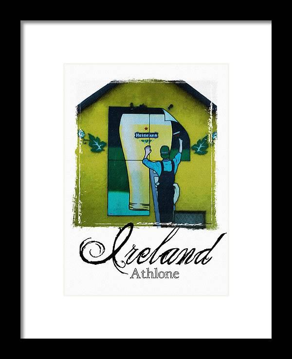 Heineken Framed Print featuring the photograph Heineken Athlone Ireland by Teresa Mucha