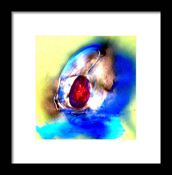 Acrylic Framed Print featuring the painting Heirloom Ruby Ring by Bruce Combs - REACH BEYOND