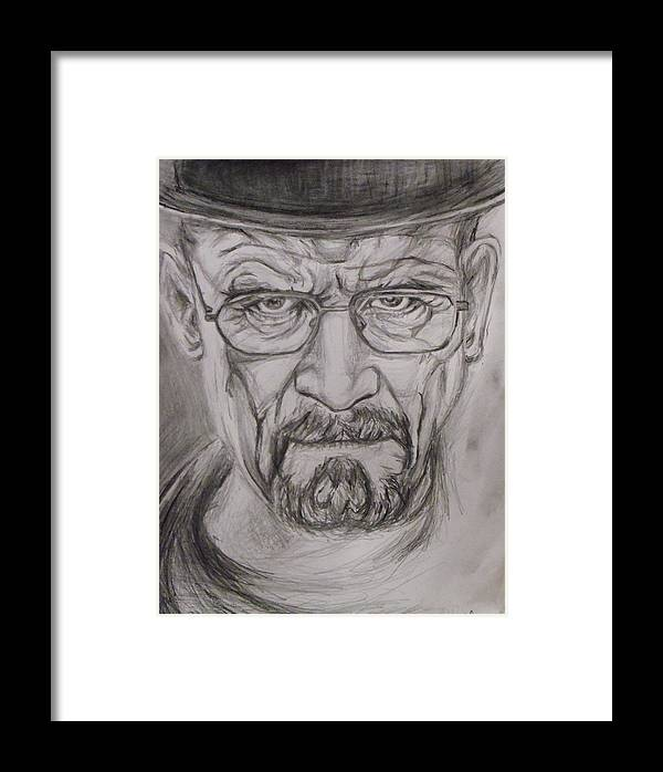 Breaking Bad Framed Print featuring the drawing Heisenberg by Hannah Curran