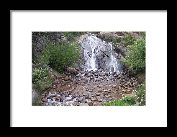 Landscape Framed Print featuring the photograph Helen Hunt Waterfall by Sarah Bauer