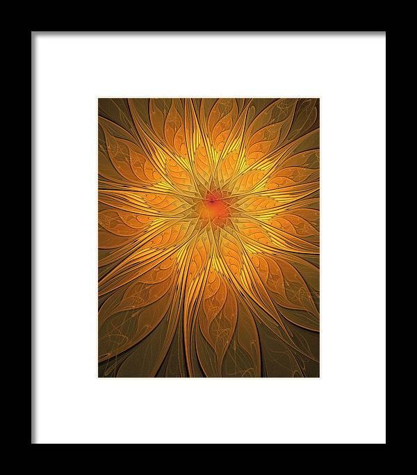 Digital Art Framed Print featuring the digital art Helio by Amanda Moore