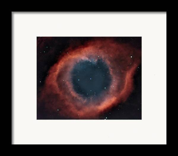 Helix Framed Print featuring the photograph Helix Nebula by Charles Warren
