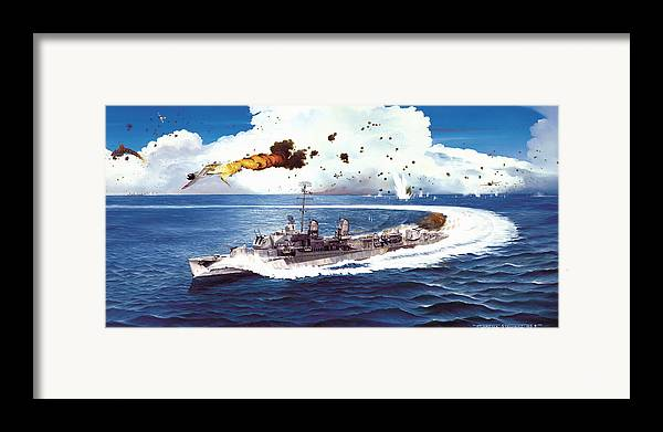 Aviation Framed Print featuring the painting Hell Over The Hadley by Marc Stewart