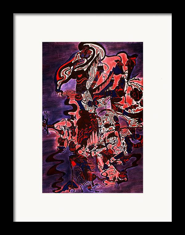 Abstract Framed Print featuring the print Hell by William Watson
