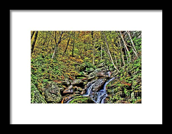 Hellbrook Cascades Framed Print featuring the photograph Hellbrook Cascades In Autumn by Matthew Winn