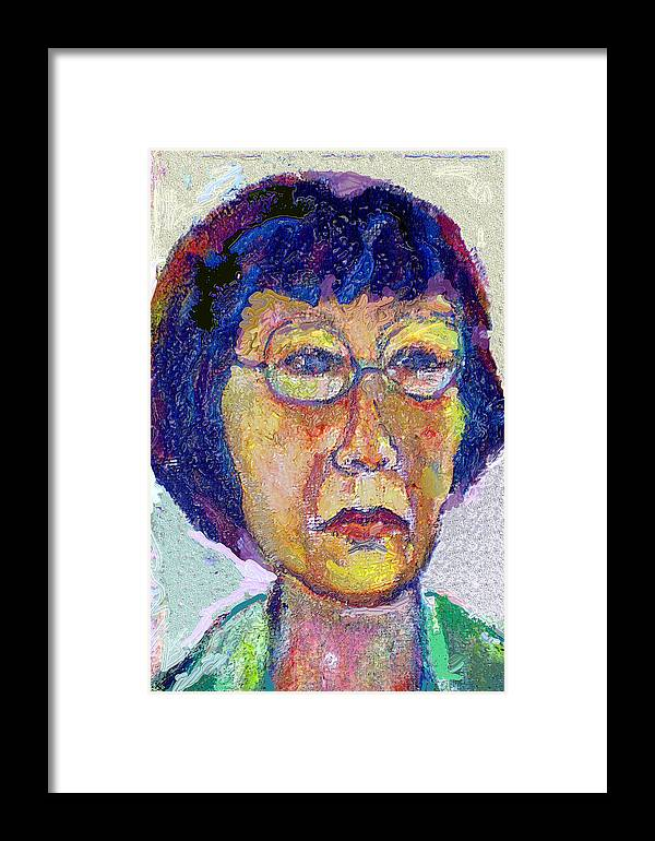 Portrait Framed Print featuring the painting Hellen by Noredin Morgan