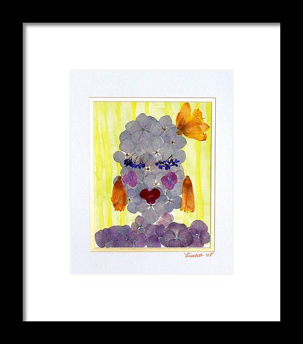 Everything Framed Print featuring the mixed media Hello Darling by Lisabeth Billingsley