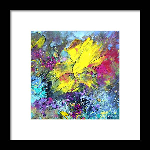 Framed Print featuring the painting Hello Sunshine 01 by Miki De Goodaboom