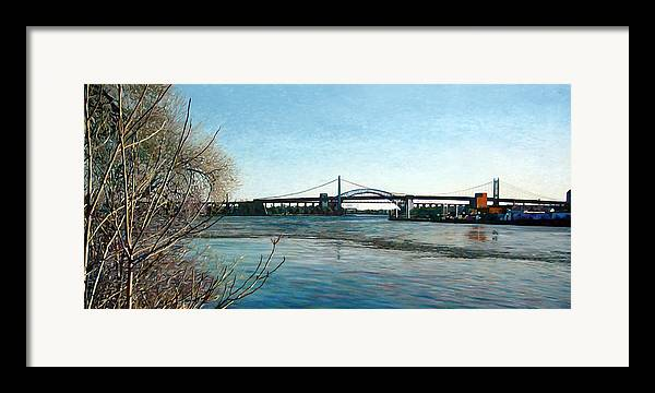 River Framed Print featuring the painting Hell's Gate by Randy Ford
