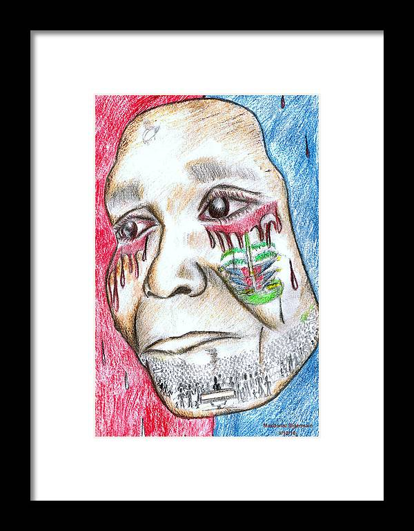 Haiti Framed Print featuring the drawing Help Haiti For A Better Future by HPrince De Artist
