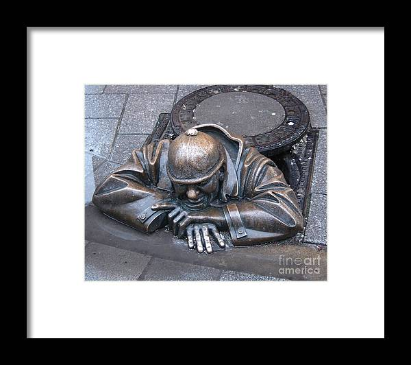 Man Framed Print featuring the photograph Help Me Out by Mary Rogers