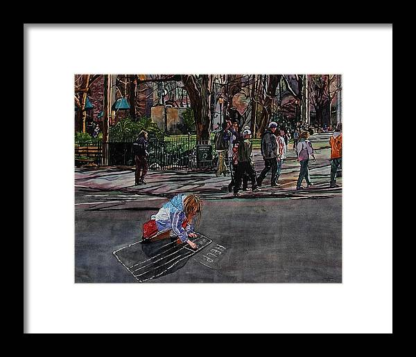 Political Framed Print featuring the painting Help by Valerie Patterson