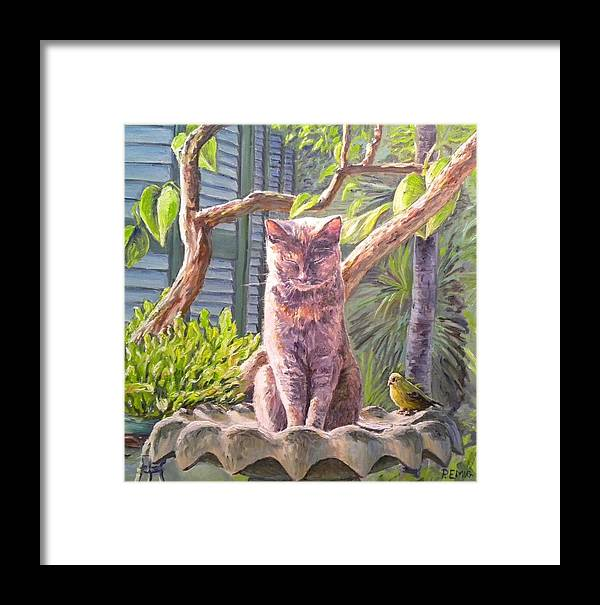 Cat Framed Print featuring the painting Hemingway Cat by Paul Emig