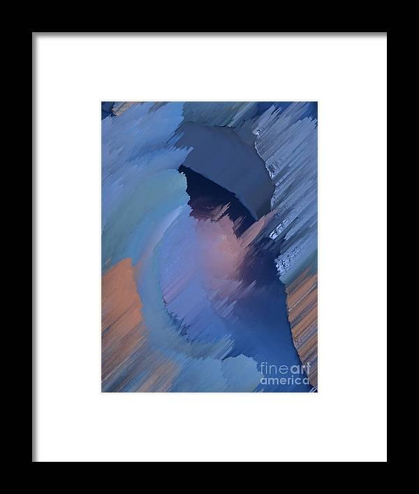 Blue Framed Print featuring the painting Hemisphere by Vicki Lynn Sodora