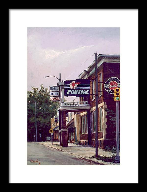 Landscape Framed Print featuring the painting Hemlock Hotel by William Brody