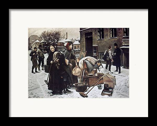 1890 Framed Print featuring the photograph Henningsen Evicted 1890 by Granger