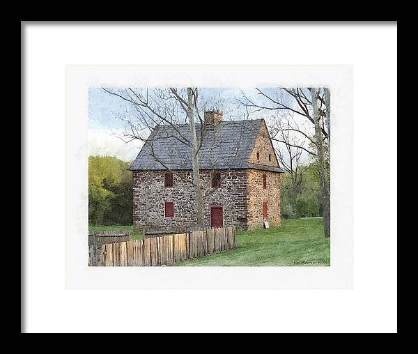 Digital Framed Print featuring the photograph Henry Antes House by Ron Alderfer