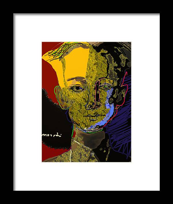 Portrait Framed Print featuring the painting Henry Foss by Noredin Morgan