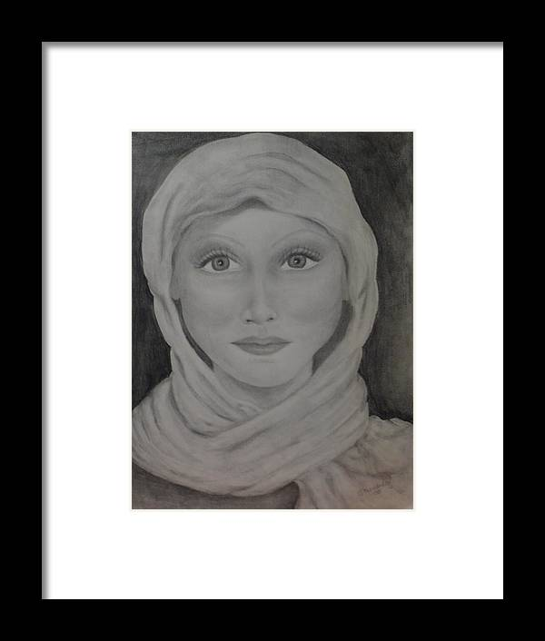 Portrait Framed Print featuring the drawing Her by Jennifer Hernandez
