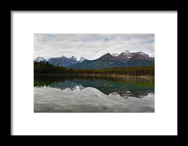 Framed Print featuring the photograph Herbert Lake Reflections by George Oze