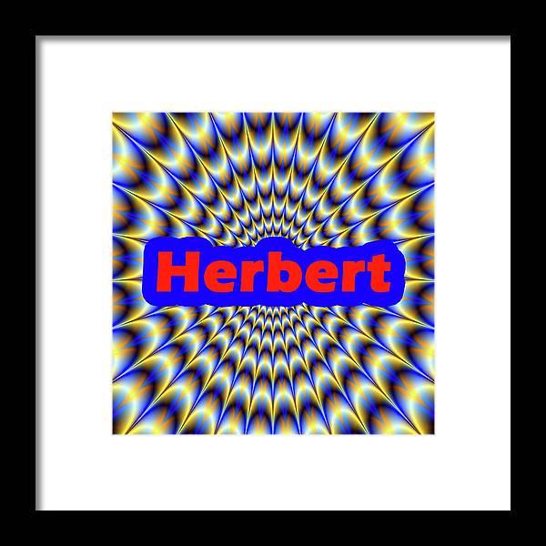 Men Framed Print featuring the digital art Herbert by Mitchell Watrous