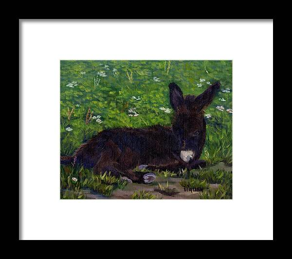 Donkey Framed Print featuring the painting Hercules by Sharon E Allen