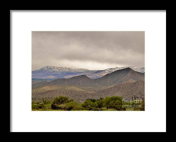 Arizona Landscape Framed Print featuring the photograph Here Comes The Sun by Marilyn Smith