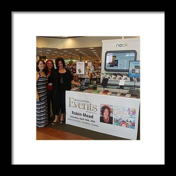 Barnesandnoble Framed Print featuring the photograph Here I Am With My Gorgeous Daughters At by Robin Mead