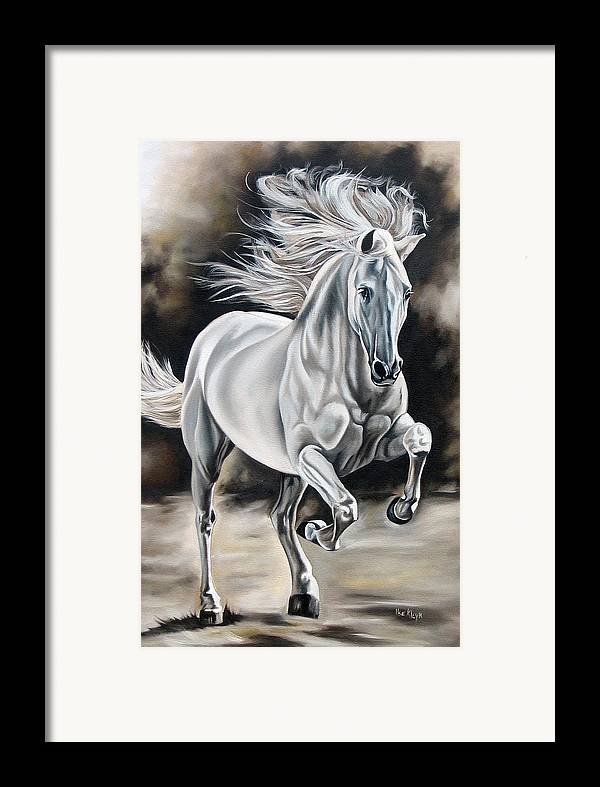 Horse Framed Print featuring the painting Hereje by Ilse Kleyn