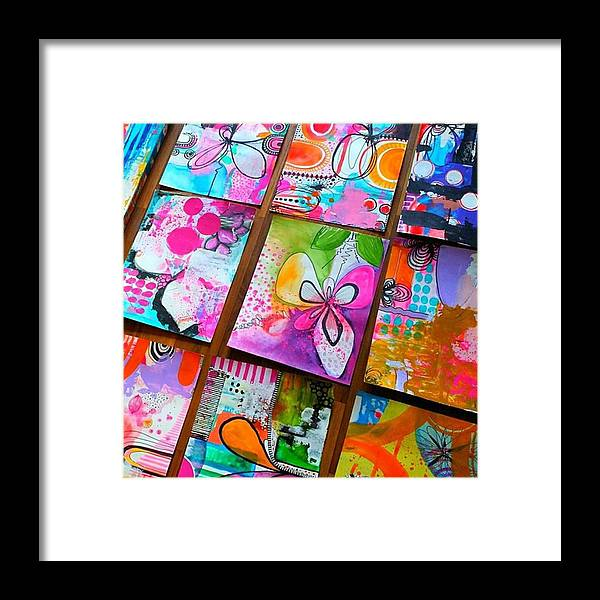 Doodles Framed Print featuring the photograph Heres A Little Sample Of Some Of The by Robin Mead