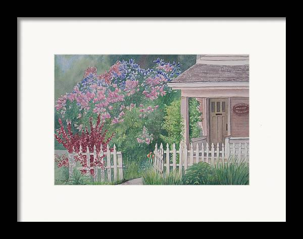 Heritage Framed Print featuring the painting Heritage House by Debbie Homewood