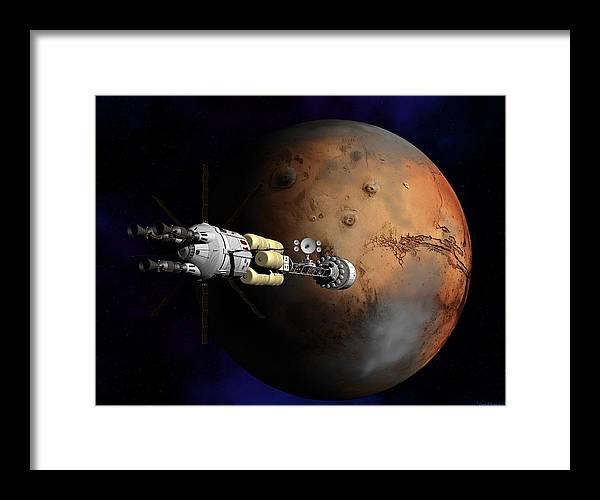 Mars Framed Print featuring the digital art Hermes1 Orbit Insertion by David Robinson