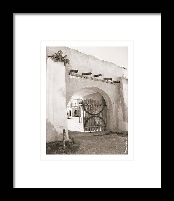 Alamo Framed Print featuring the photograph Heroes Gate by Mona Davis